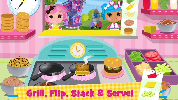 Lalaloopsy Diner - A Candy Coated Burgeria, Pizza Party Cooking Game screenshot-0