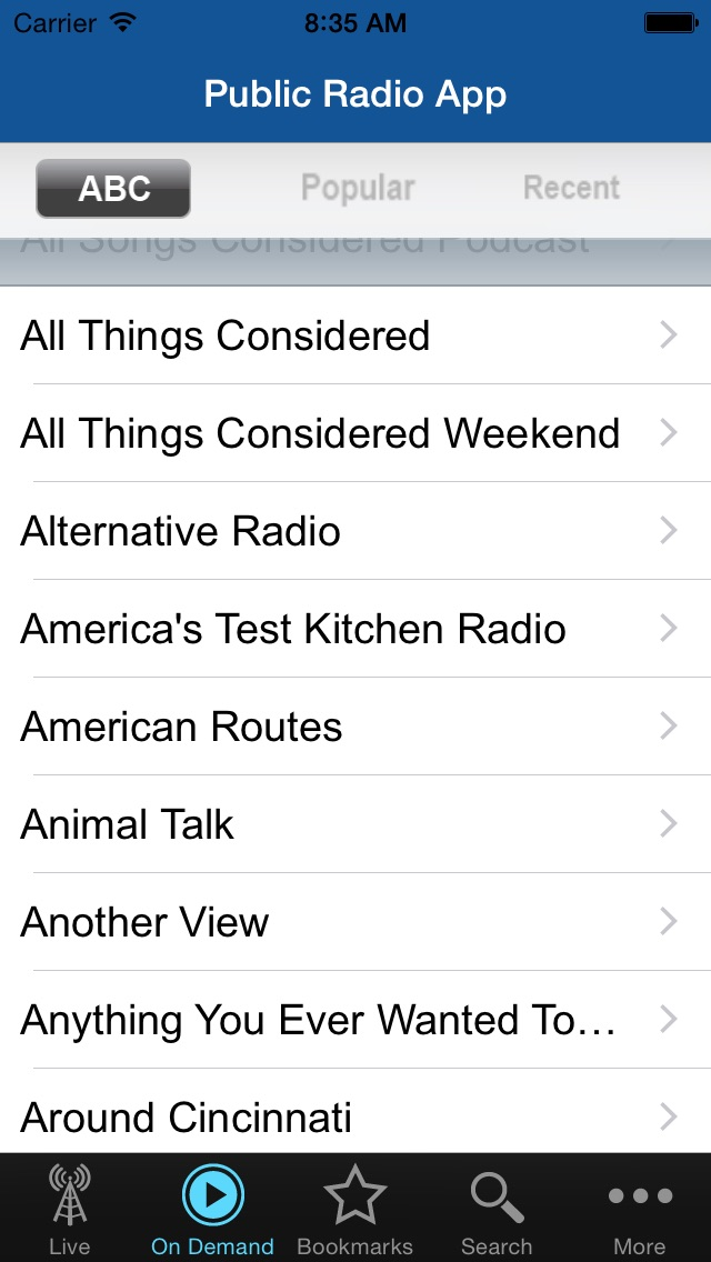 Public Radio App review screenshots