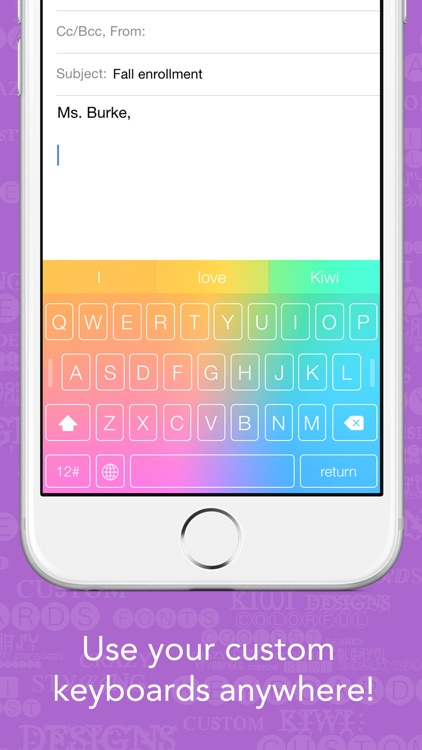 Kiwi - Colorful, Custom Keyboard Designer with Emoji for iOS 8 screenshot-3