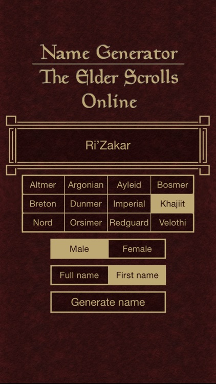 Name Generator for The Elder Scrolls Online screenshot-4