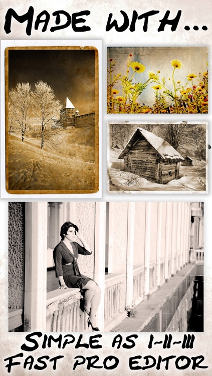 Vintage Camera Retro filters plus awesome 8mm photo effects & sketch art filters