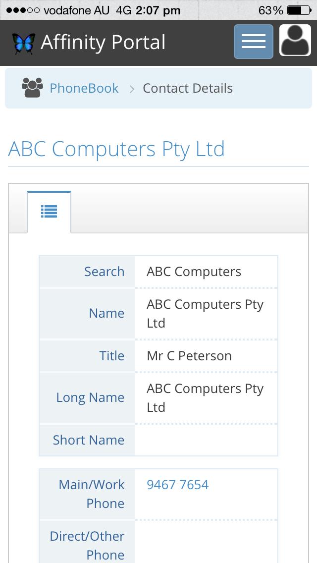 Lexis Affinity Portal screenshot three