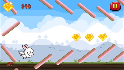Aaah! It's Flappy the Crazy Rabbit Vs Angry Clumsy Bombs! HD Free screenshot two