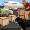 トランスポータートラックや飛行機を通じてファームラムとウール交通:羊は犬シミュレータ3Dを実行します。
