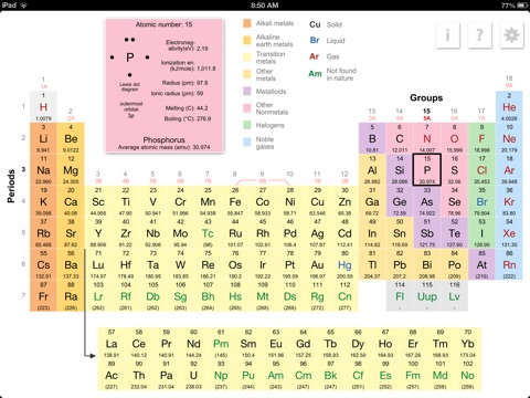 K12 Periodic Table of the Elements iPad