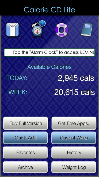 Calorie Count Down Lite screenshot-0