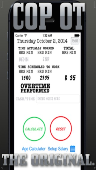 Cops Overtime Calculator review screenshots