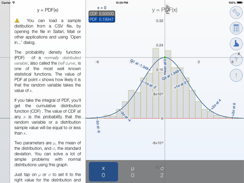 Bell Curves - graphing calculator for the normal distribution
