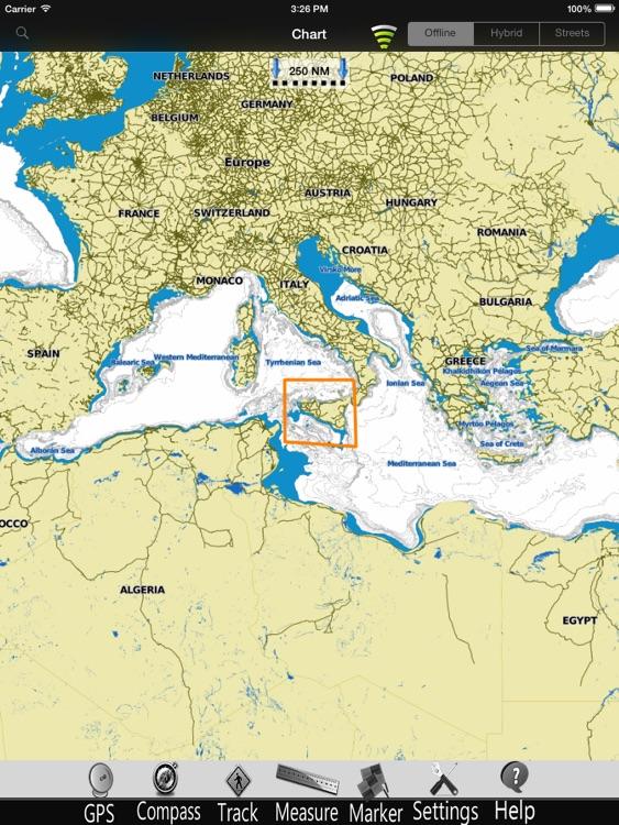 Sicily Is. Nautical Charts Pro screenshot-3