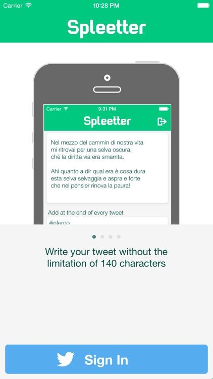Spleetter - Long Text Tweet Splitter