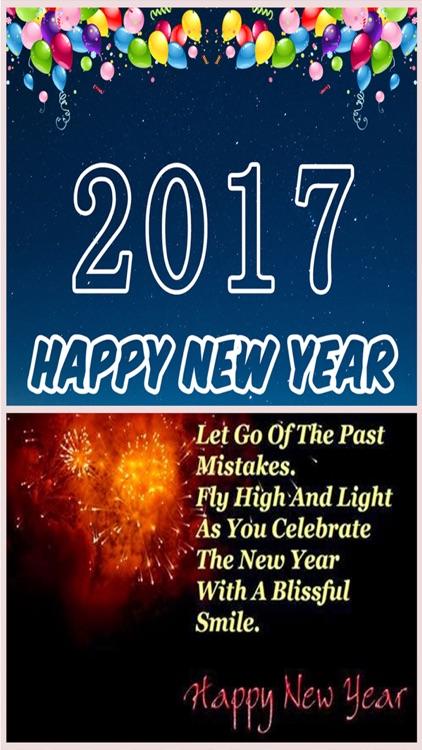 New Year Greetings Card 2017
