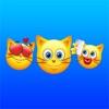 猫の絵文字 - かわいいキティ顔文字ステッカー