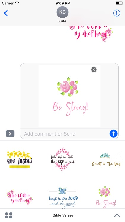Watercolor Flower Bible Verses Animated Sticker