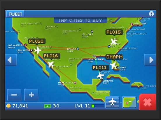 Pocket Planes - Airline Management для iPad