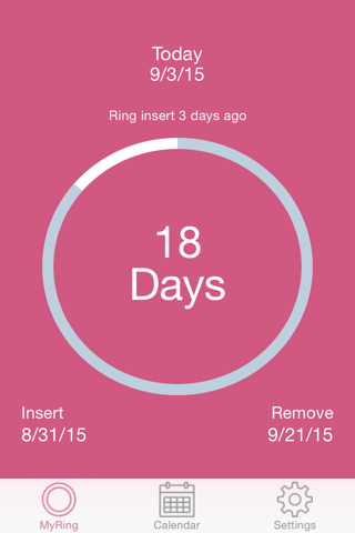 MyRing - Ring Contraceptive screenshot 1