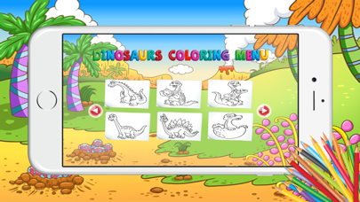 Educational Dinosaurs Activities Coloring Pages screenshot two