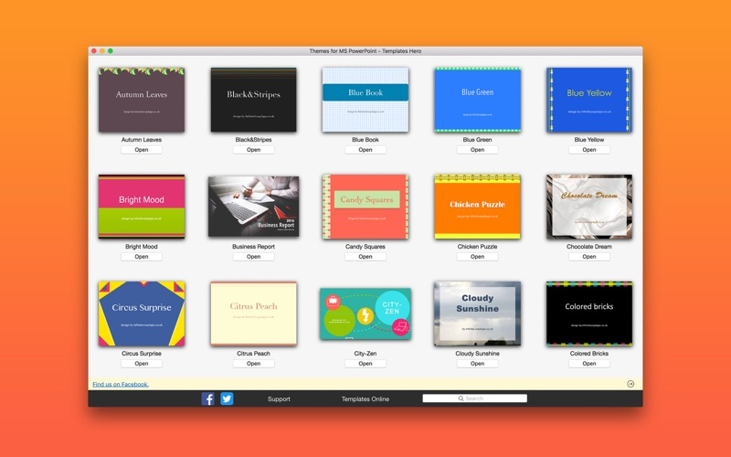 Themes for MS Office Powerpoint Presentations Screenshot