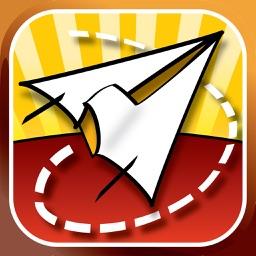 Folded Flyer - Paper Plane Flying Game