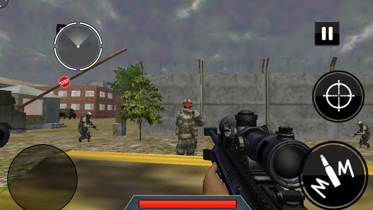 Elite Army Sniper at Frontline: Commando Defense