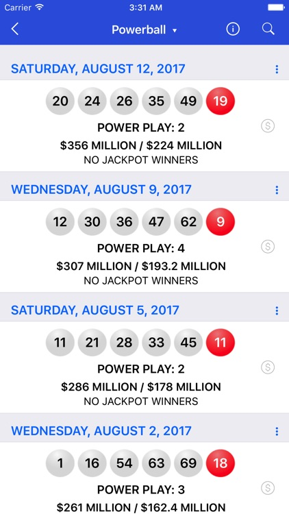 Lotto Results - Lottery in US screenshot-3