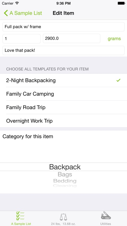 Backpacker Checklist screenshot-1