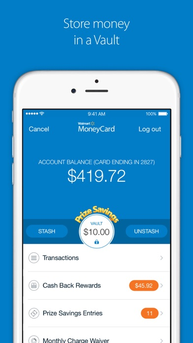 Screenshot for Walmart MoneyCard in United States App Store