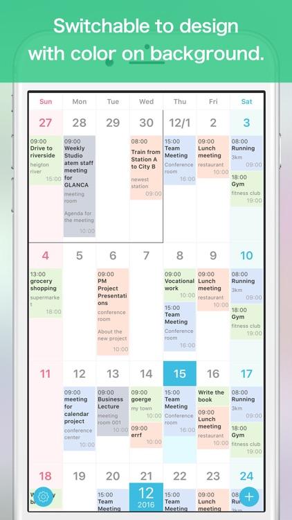 GLANCA - Simple Calendar for Google Calendar