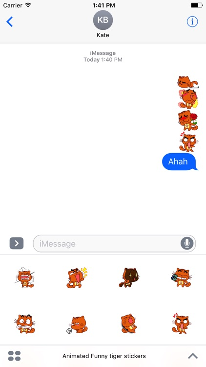 Animated Funny Tiger Stickers For iMessage screenshot-3
