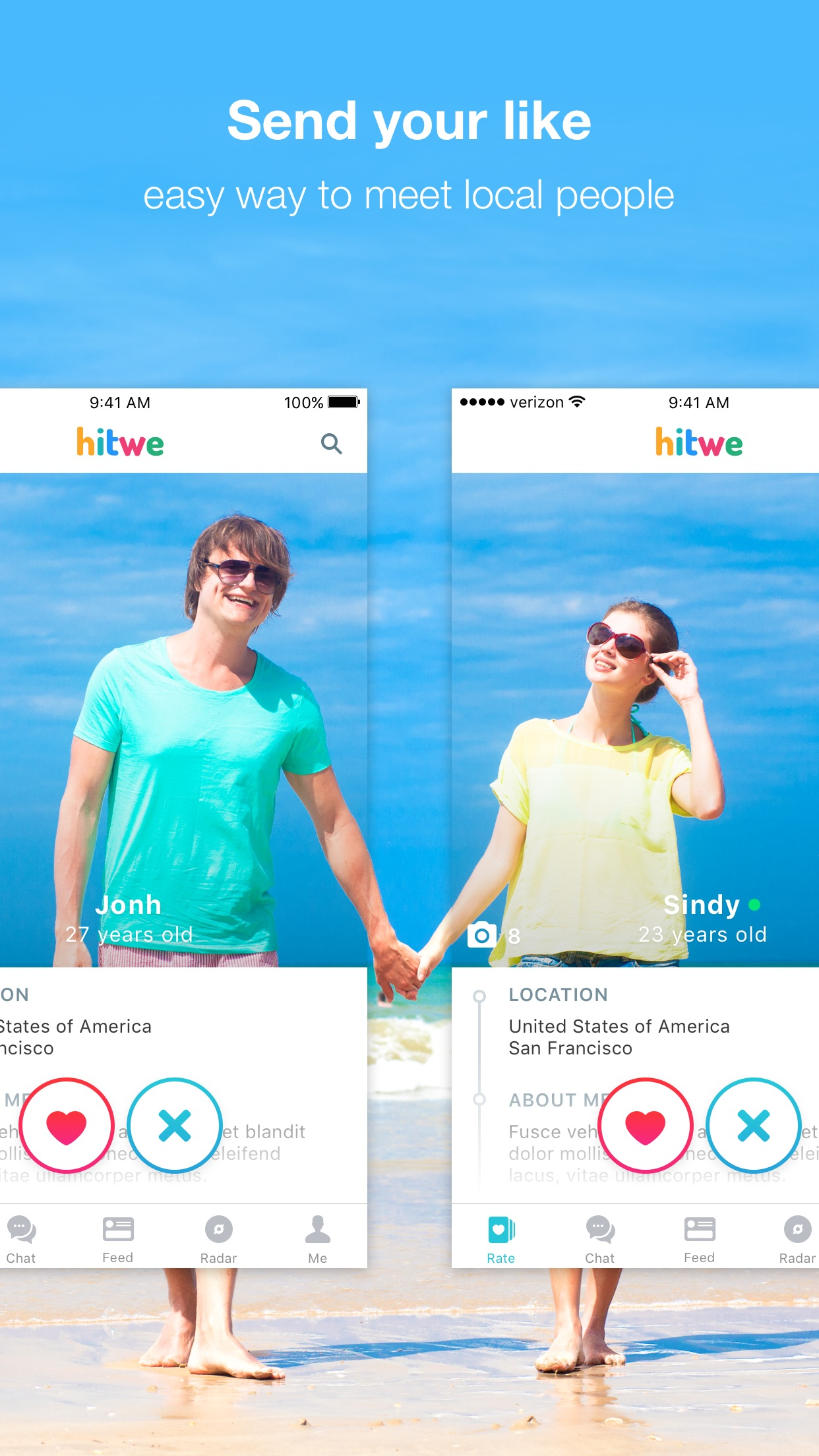 Hitwe – meet new people online, chat & date Screenshot