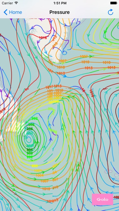 Weather Map With Wind Wave Height And Air Pressure By Yanala Reddy