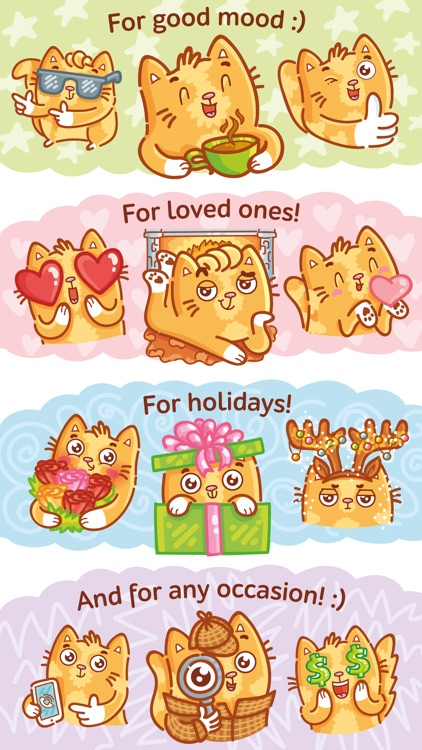 Cat stickers for iMessage! screenshot-4