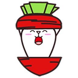 Turnip Rabbit - Animated Stickers And Emoticons
