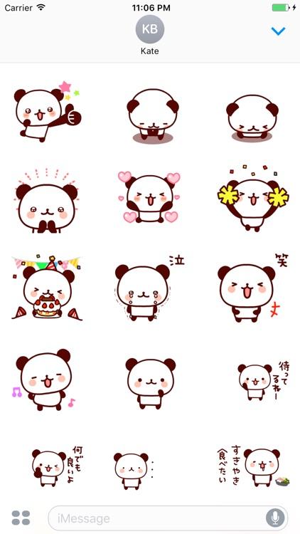 Animated John The Panda Japanese Stickers