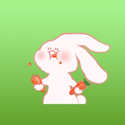 Gwen The Cute Little Bunny Stickers