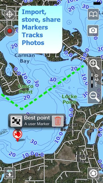 Aqua Map New Hampshire NH Lakes - Nautical Charts screenshot-3