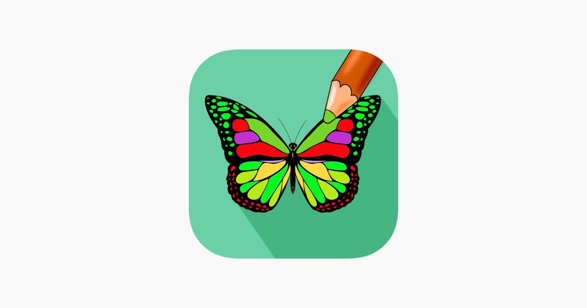 Schmetterlingsfarbe - Malbuch für Stress Relief im App Store