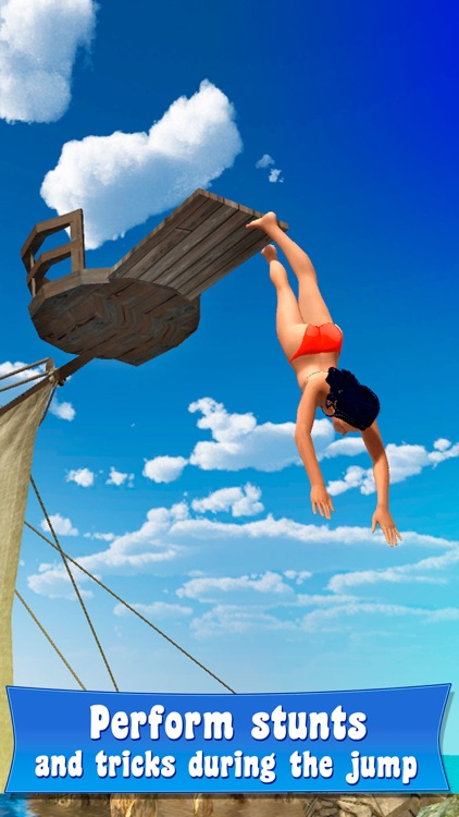 Swimming Pool Cliff Flip Diving Simulator 3D Full screenshot-3