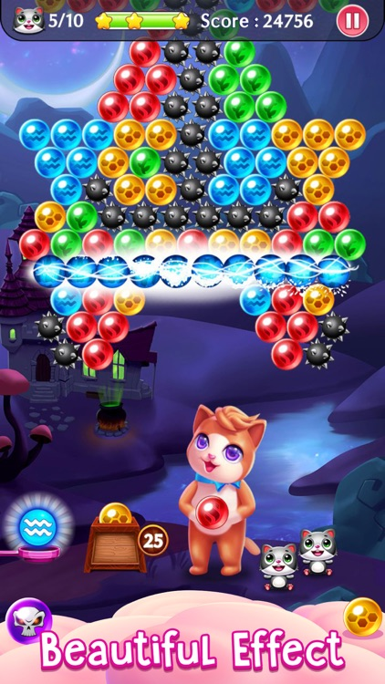 Witch Puzzle Kitty Cat Pop: Bubble Shooter Games