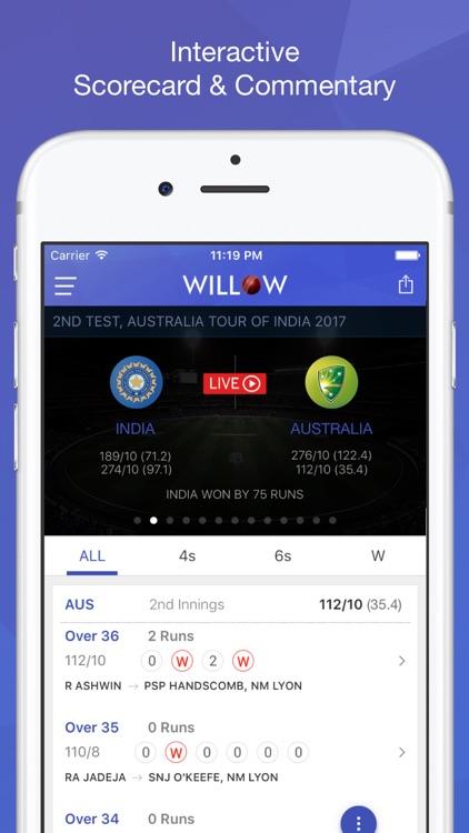 Willow TV - Watch Live Cricket & Highlights screenshot-4