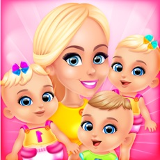Activities of Mommy's Triplets Baby Story - Makeup & Salon Games