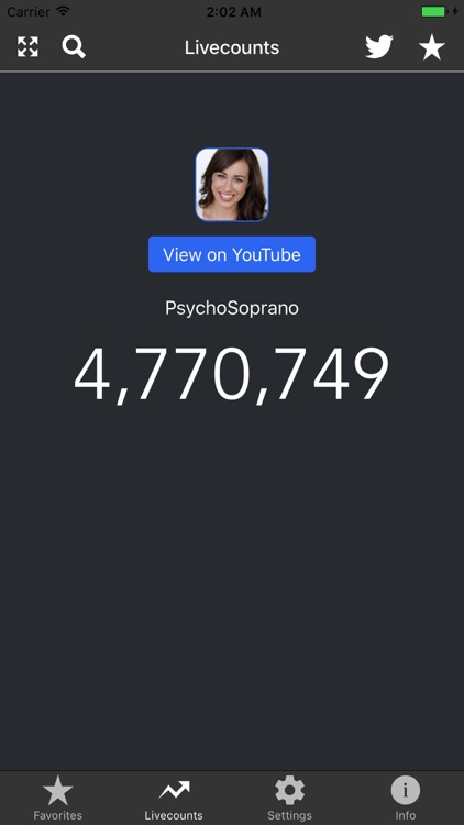 Livecounts - Live Subscriber Count