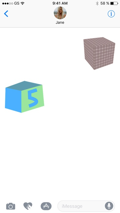 キューブステッカーパックのスクリーンショット2