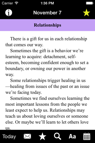 Language of Letting Go: Codependency Meditations screenshot 2