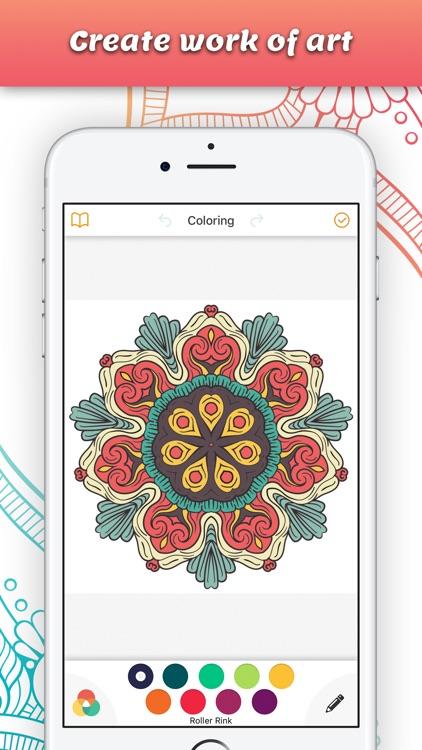 Mandala Book Coloring Calm Adults Color Therapy Screenshot 2