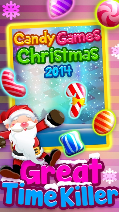 Candy Games Christmas 2015 - Xmas Soda Candies Screenshot on iOS