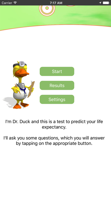 Life Expectancy Lite - the age test screenshot one