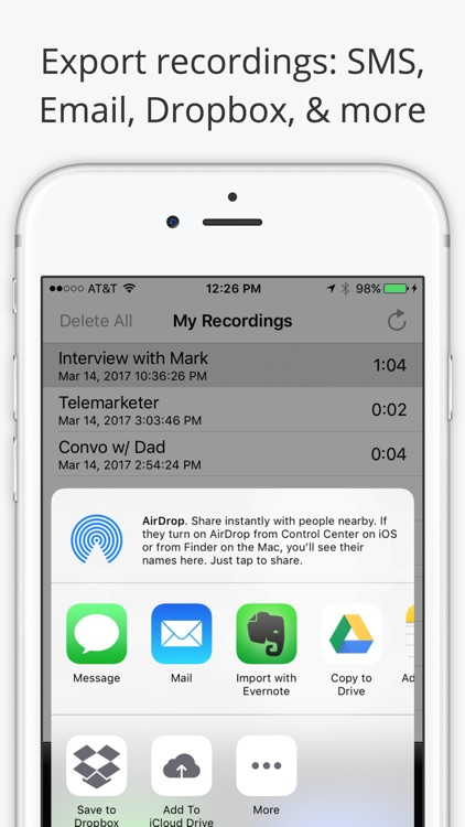 Call Recorder Lite - Record Phone Calls for iPhone app image