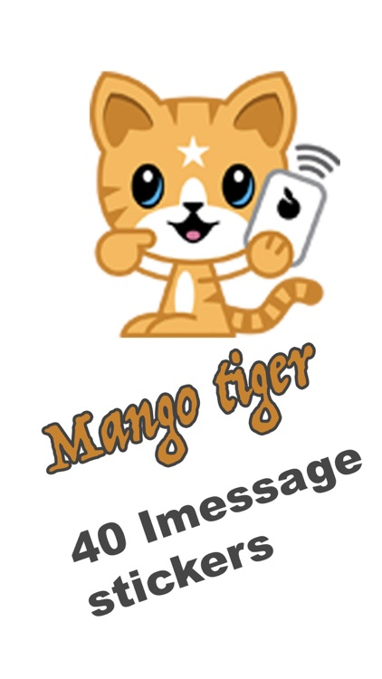 Mango Tiger Stickers screenshot-0