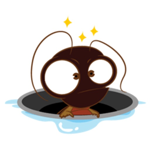 Cute Cockroach Stickers
