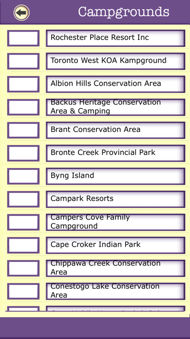Ontario Camping & Hiking Trails,State Parks screenshot three